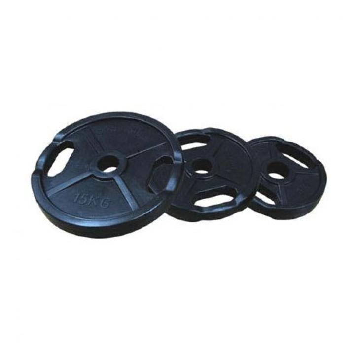 Диски обрезиненные двойной хват черные JAGUAR-SPORT 2.5-25 кг