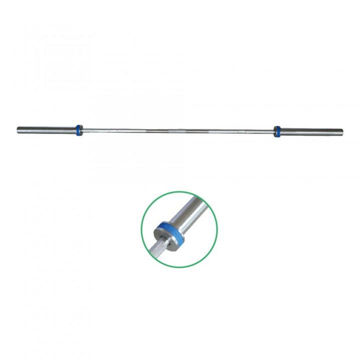 Гриф олимпийский 2200 мм тяжелый хром с фирменным кольцом (10 подшипников) JAGUAR-SPORT