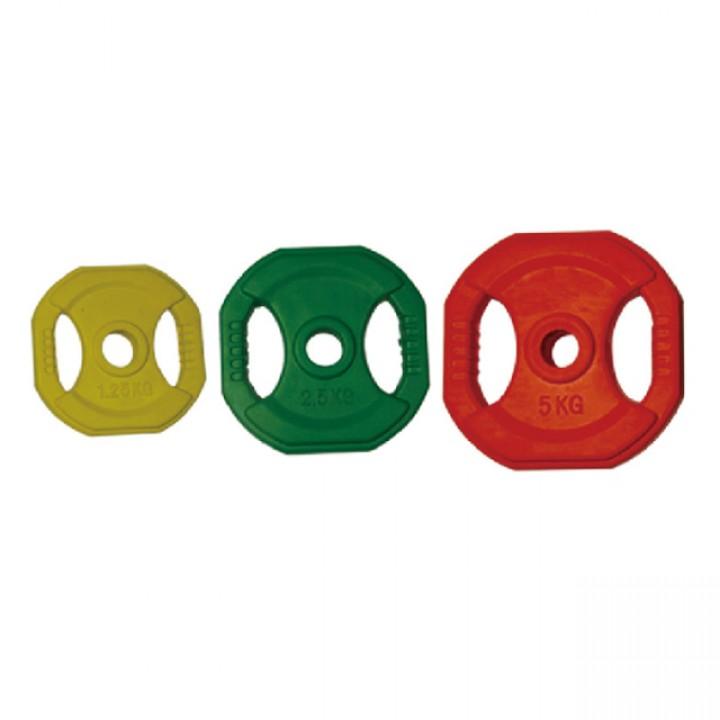 Диски для фитнес штанг обрезиненные цветные JAGUAR-SPORT 1.25-25 кг