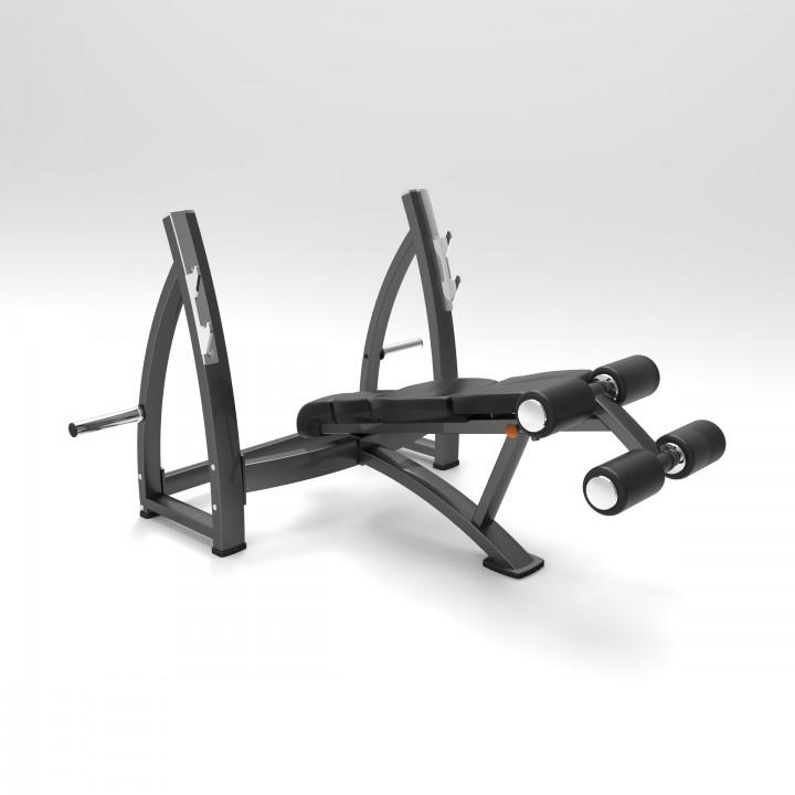 Олимпийская скамья для жима с обратным углом наклона Elite73 JS7340