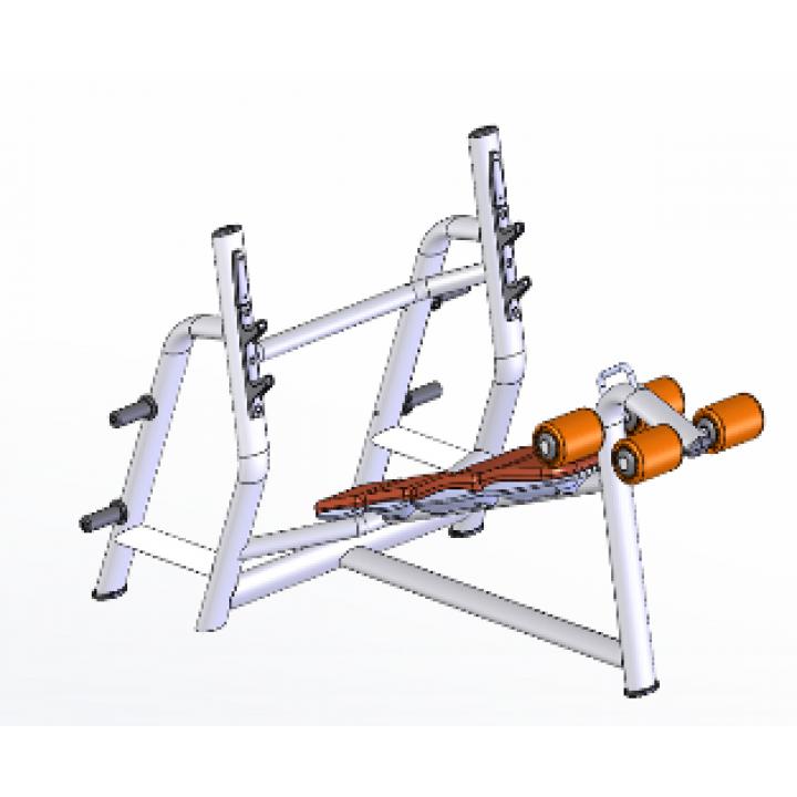 Скамья для жима олимпийская с обратным наклоном JAGUAR-SPORT LD-7030