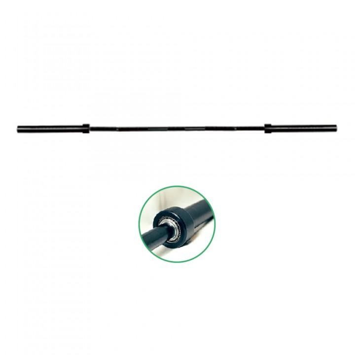 Гриф олимпийский 2200 мм тяжелый черный хром (10 подшипников) JAGUAR-SPORT