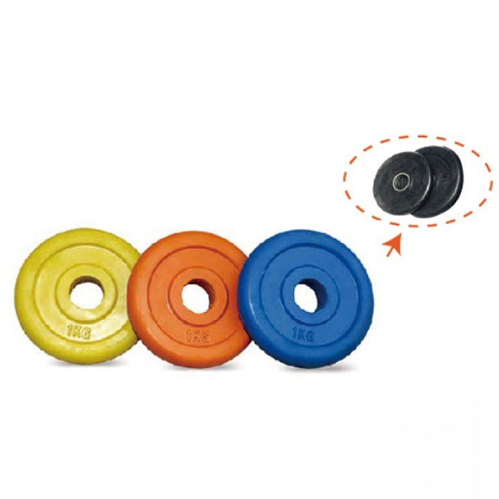 Диски обрезиненные цветные и черные JAGUAR-SPORT 0.5-20 кг