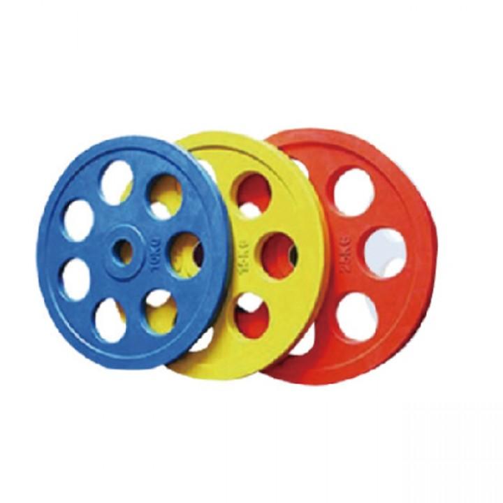 Диски обрезиненные цветные JAGUAR-SPORT 2.5-25 кг