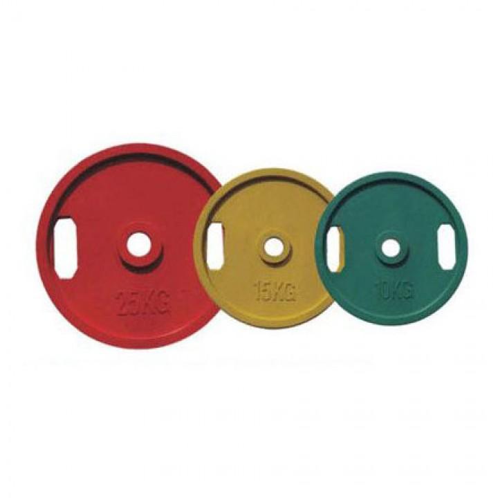 Диски обрезиненные двойной хват цветные и черные JAGUAR-SPORT 2.5-25 кг