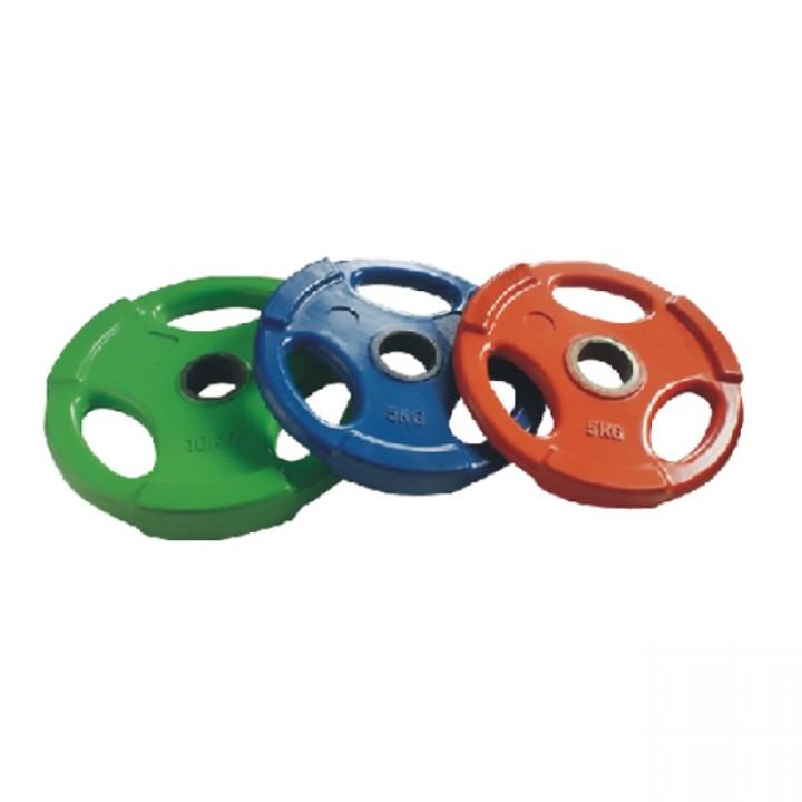 Диски обрезиненные цветные тройной хват JAGUAR-SPORT 1.25-25 кг