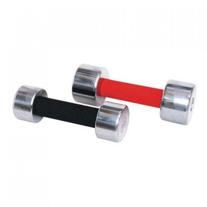 Гантели хромированные с обрезиненной ручкой JAGUAR-SPORT 1-20 кг